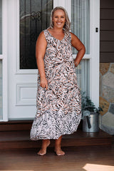 QUARTZ DRESS - ZEBRA