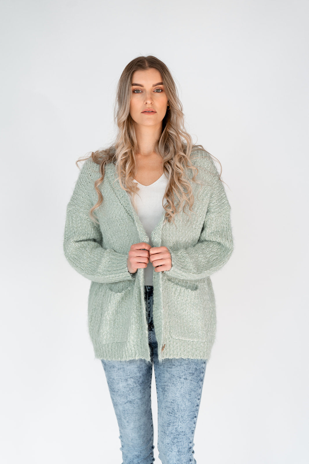 CARMEN KNIT CARDIGAN - MINT