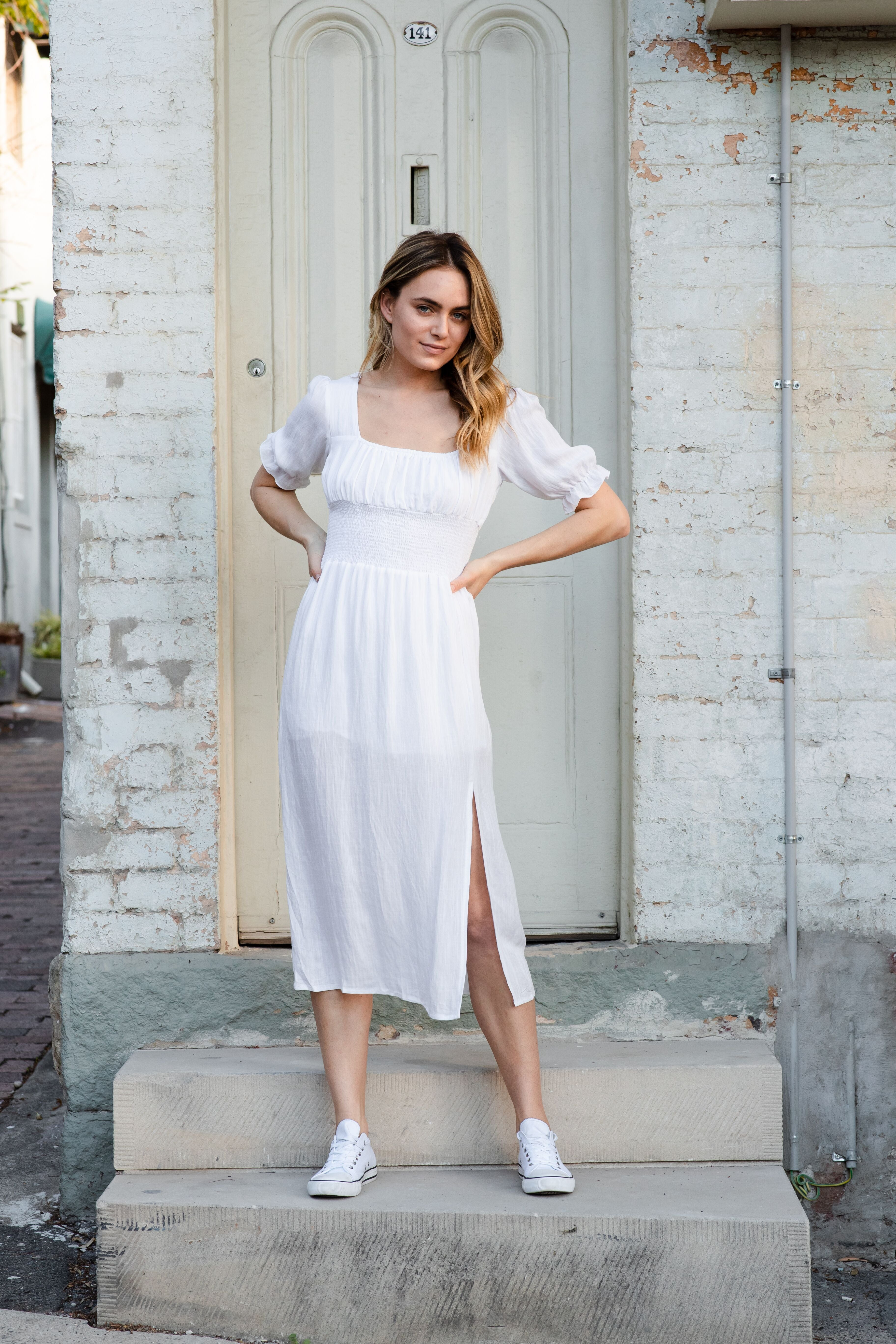 TAILYN DRESS - WHITE