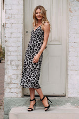 NAYA WRAP DRESS - LEOPARD