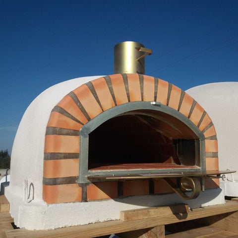 EuroFlame Amadora Wood Fired Pizza Oven With Door Open