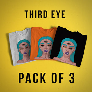 Third Eye T-shirt for Women (Pack Of 3)