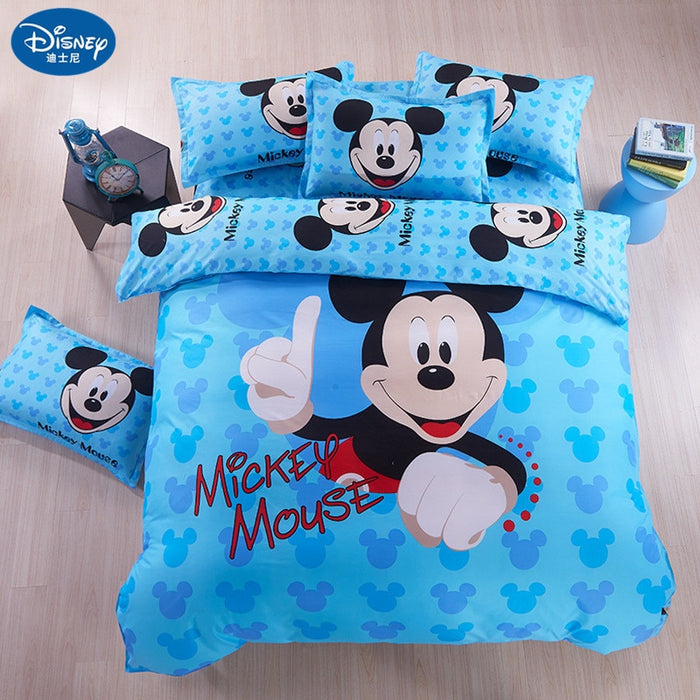Home textile Mickey mouse Bedding Set  minnie mouse cartoon bed Children bedclothes  cover children bed set sheet cot