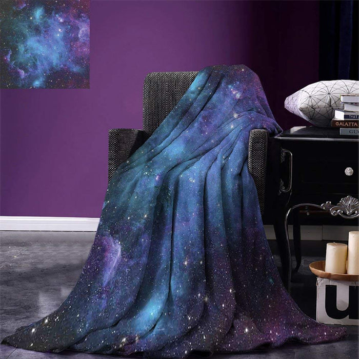 Outer Space Throw Galaxy Stars in Space Celestial Astronomic Planets in the Universe Milky Way Warm Microfiber Blanket