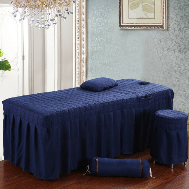 Beauty Salon bed sheet Brief Beauty Bed Skirt Bedspread  with Hole Body Massage Bed Cover