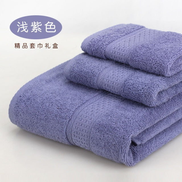 100% cotton Towel set bathtowel + facetowel + handtowel 3pcs/set soft bath towel