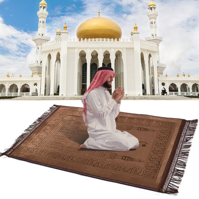 Thick Soft Muslim Islamic Prayer Mat Salat Musallah Prayer Rug tapis de priere islam Sajadah Pray Rug Carpet gebedskleed 80X120
