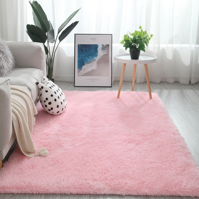 Soft Carpet Bedroom for Home Living Room Entrance Center Rug Around Floor Mat Office Chair Shaggy Long Hair Nordic Room Decor