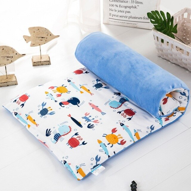 Baby Crib Mattress Pad with Cover Removable Washable Mattress Topper Cradle Cot  Newborns Baby Bed Set Children Bedding 120*60