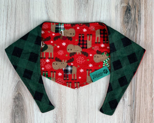 Holiday Moose Dog Bandana