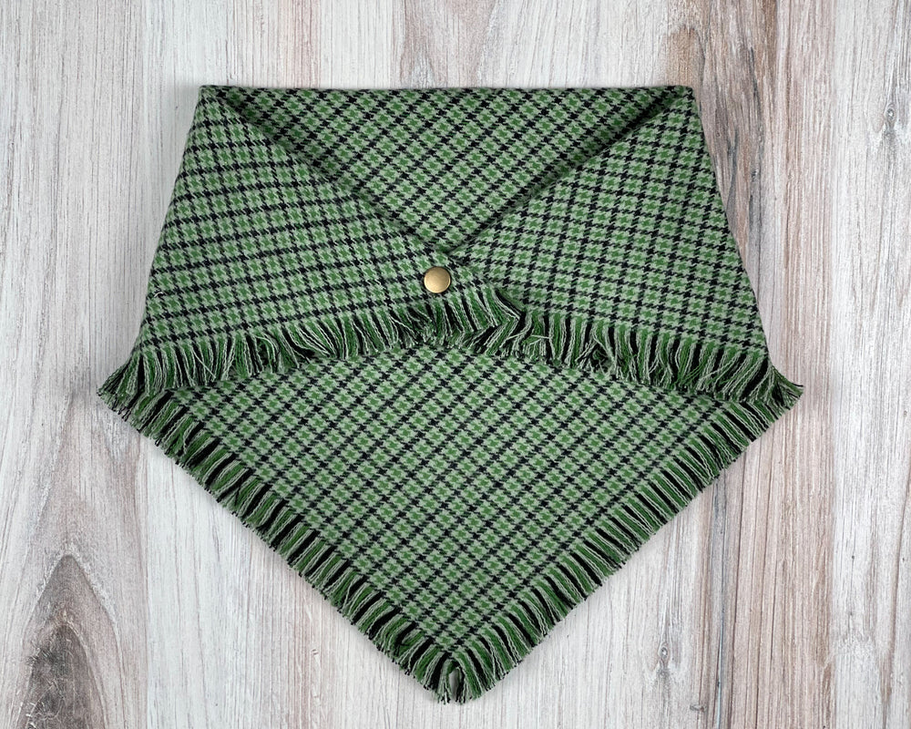 Irish Houndstooth Dog Bandana