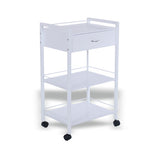 White 1 Drawer 2 Table Trolley (TRO6)
