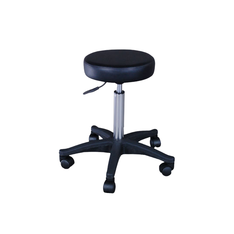 Black Cutting Stool with a plastic base (ST2)