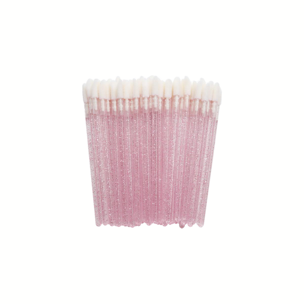 Pink Glitter Disposable Lip Applicators