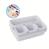 White Drawer Storage Containers