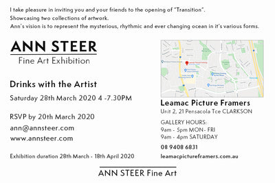 Art Exhibition - Transition 25th July 2020