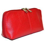 Gina Domed Leather Cosmetic Bag