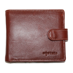 Thabo Three Fold Leather Wallet with Tab