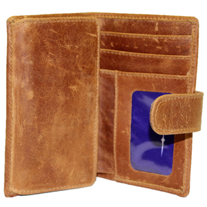 Load image into Gallery viewer, Hannah 3 Fold Unisex Leather Purse
