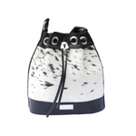 Jacqui-O Leather Drawstring Handbag