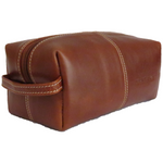 Men's Doppio Leather Wash Bag