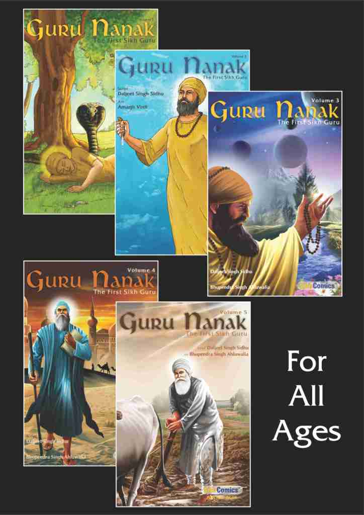 Guru Nanak - Volume 1, 2, 3, 4, 5 (English Graphic Novels)