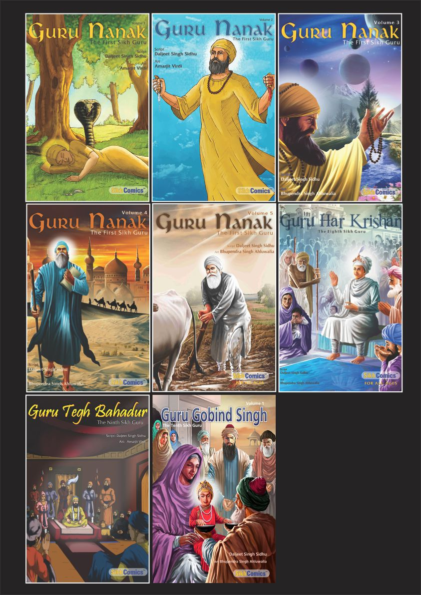 Complete Set - Sikh Gurus - Thirteen Books (English Graphic Novels)