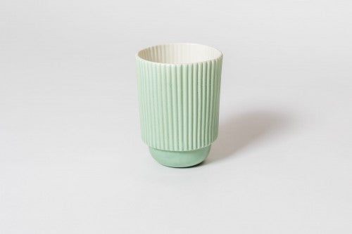 Stripy Mug Green