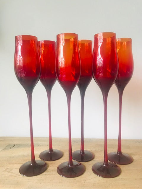 Set of 6 wine glasses by Zbigniew Horbowy