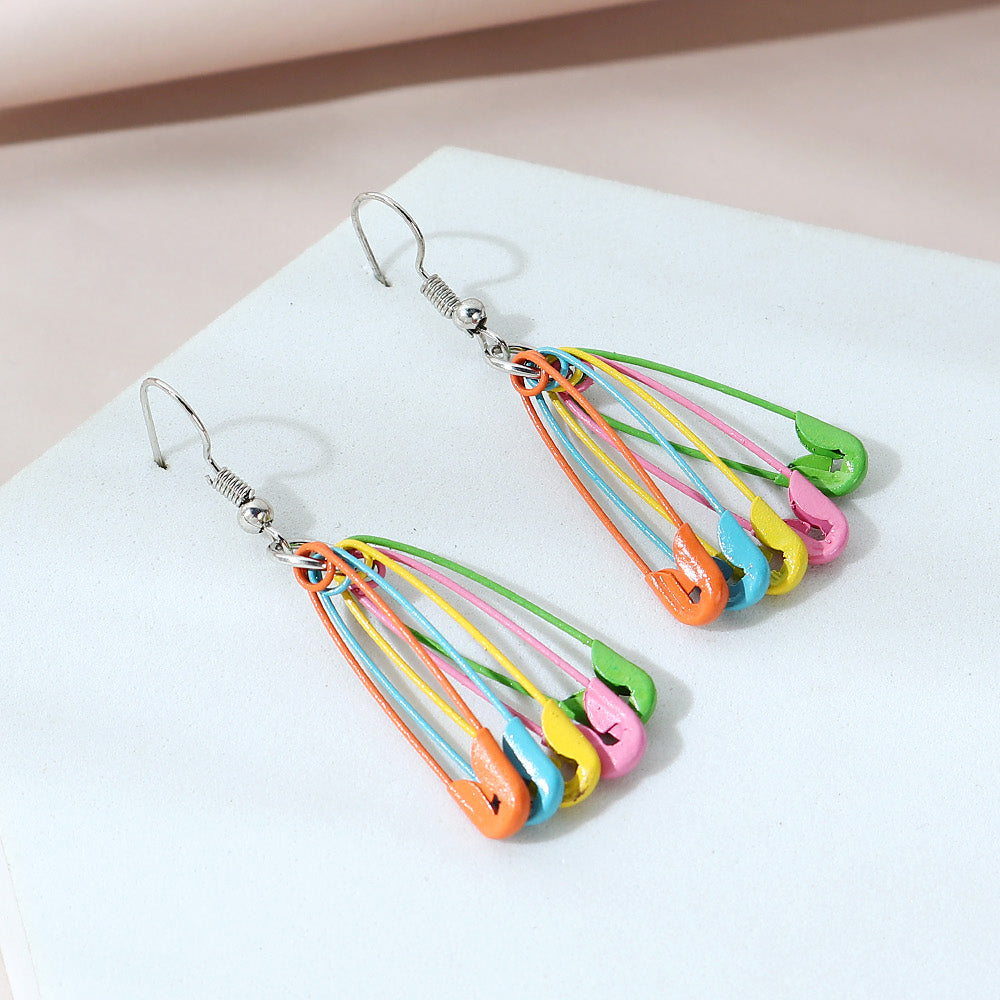 Alloy MULTI BRAND NEW Safety Pins Earrings