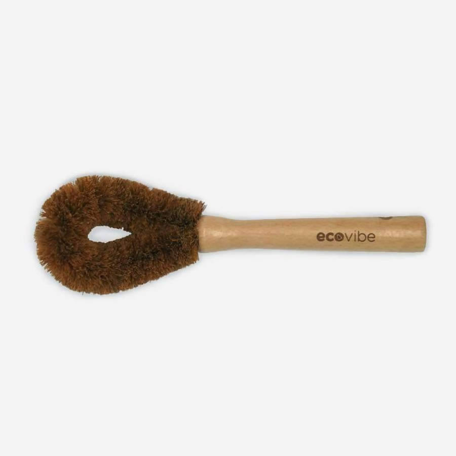 COCONUT DISH BRUSH WITH WOODEN HANDLE