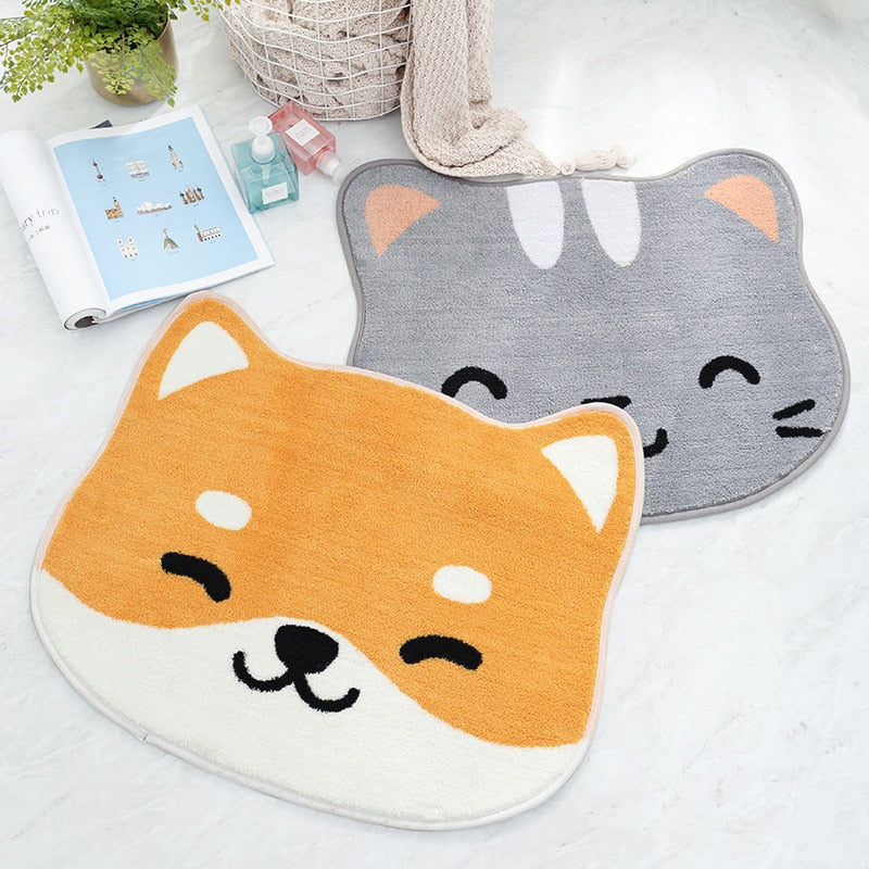 Cute Dog Cat Pattern Non-slip Mat