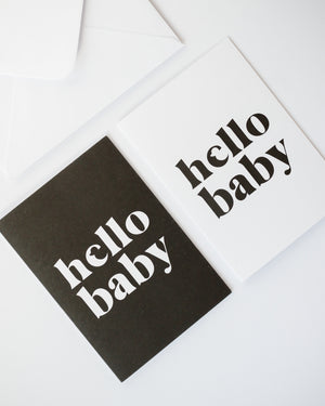 Recycled black and white cards for mum, dad and baby.