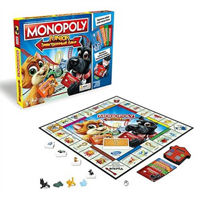 Product Image of Hasbro Gaming Monopoly Junior Electronic Banking Game #1