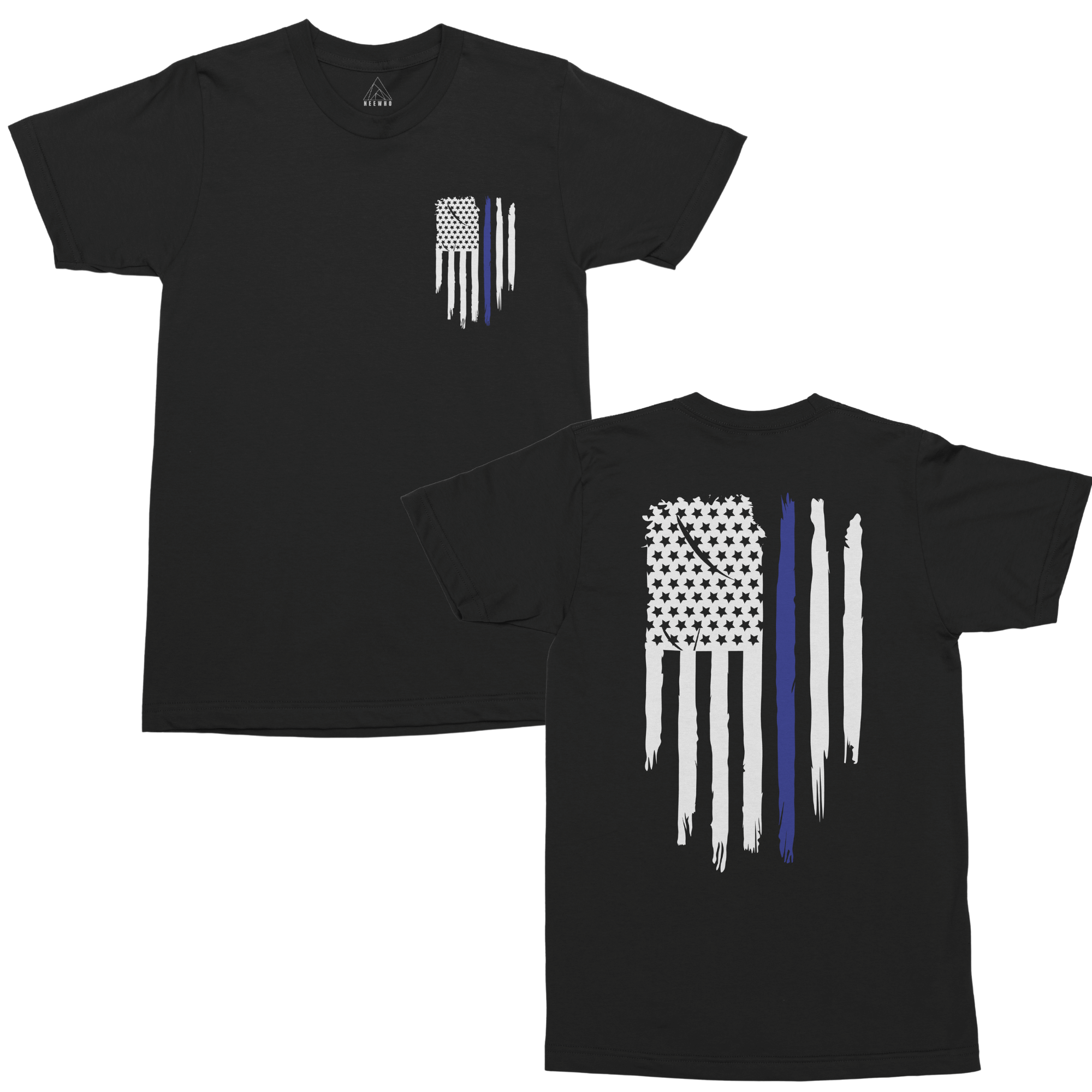 Thin Blue Line USA Flag Patriotic Police Support Men's T Shirt