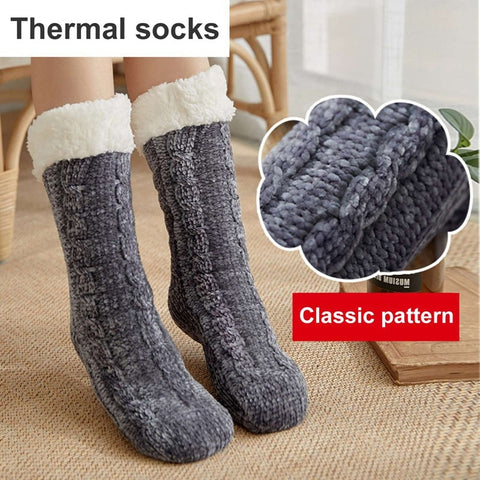 Non Slip Socks Warm Soft Artificial One Size Socks