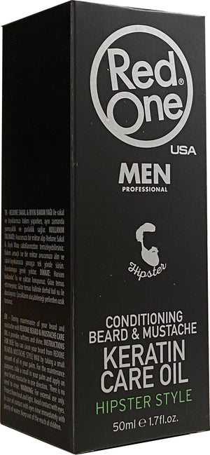 Red One Beard & Mustache Care Oil 50 ml - Hairwaxshop