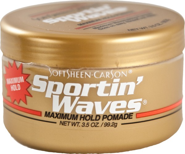 Sportin Waves Maximum Hold Pomade 3.5 oz Gold Tin