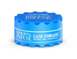 Immortal Infuse Classic Pomade Super Strong Shine 150 ml - Hairwaxshop