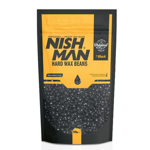 Nishman Professional Hard Wax Beans Black - Hairwaxshop