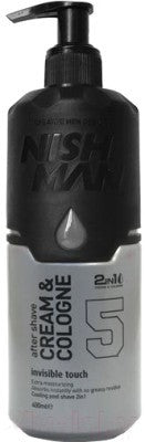 Nishman After Shave Cream & Cologne 2in1 05 Invisible Touch 400 ml