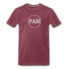 Load image into Gallery viewer, Men's FAM Circle T-Shirt - heather burgundy