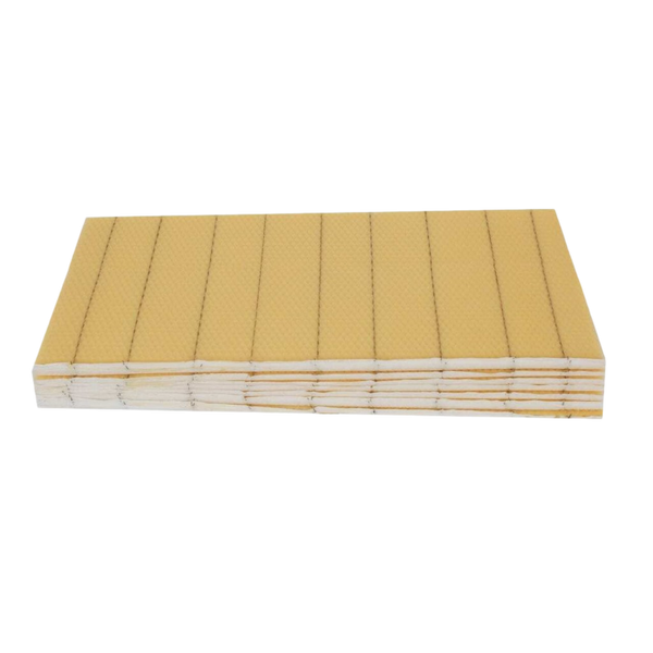 Crimped Wire Wax foundation with hooks for deep frames - 10 sheets