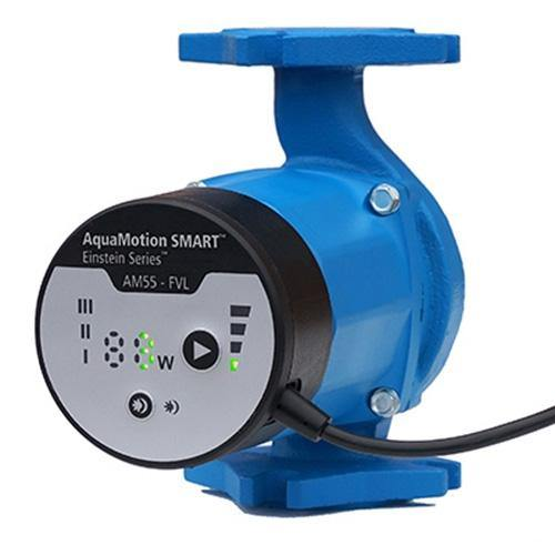 AquaMotion AM55-SFVL ECM Circulator Pump - Stainless Steel - w/ Check Valve and Line Cord