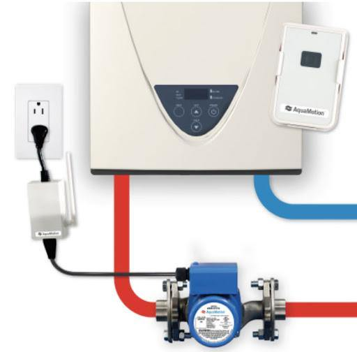 AquaMotion AMH1K-RODRN On-Demand Recirculation Kit for Tankless Water Heaters