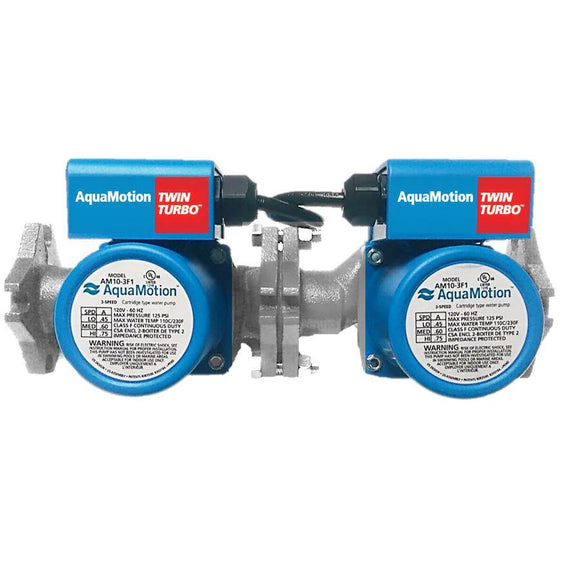 AquaMotion AM10-SFV3 TwinTurbo Stainless Steel with check valve HeadFt:24 GPM:28