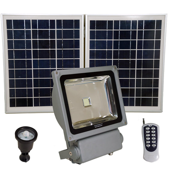 Solar Goes Green SGG-FL12-Extreme - LED Solar Flood Light With Remote Control, SMD LED, Lithium Ion Battery and PIR Motion