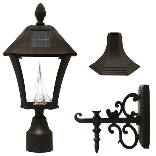 Gama Sonic GS-106FPW-B Baytown Solar Light - Wall/Pier/3