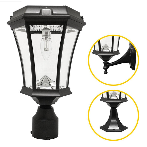 Gama Sonic GS-94B-FPW Victorian Bulb Solar Light w/GS Solar Light Bulb - Wall/Pier/3