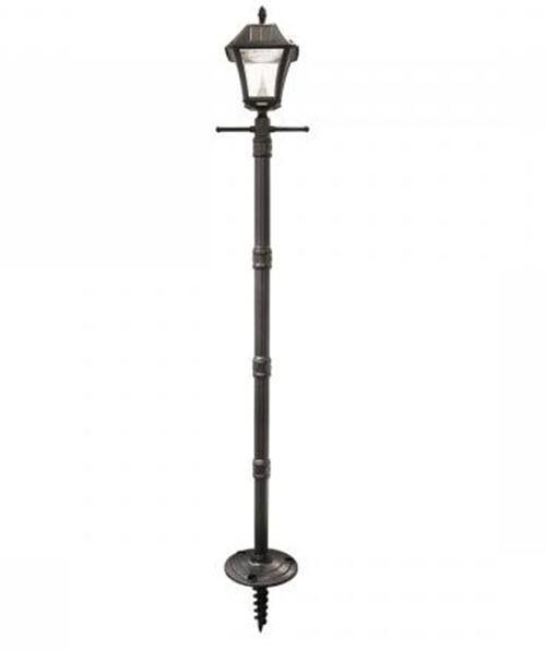 Gama Sonic GS-105S-G Baytown II Solar Lamp Post with EZ Anchor